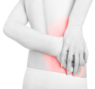 woman w/ pain seeking massage